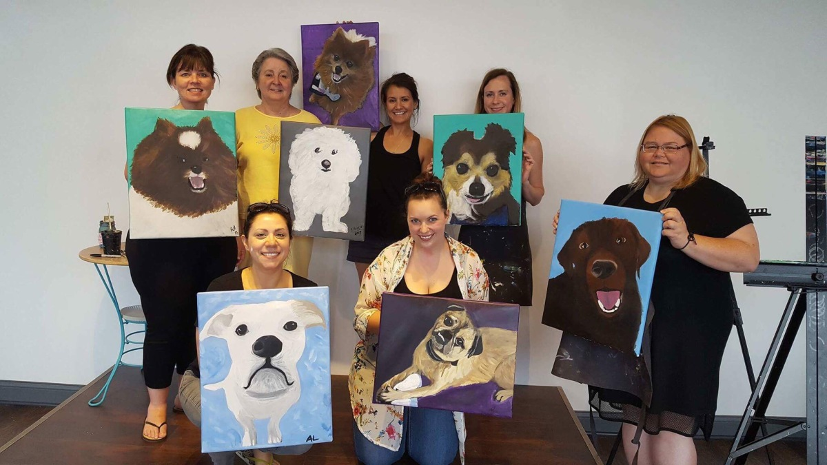 Paint Your Pet (and drink wine!)